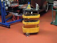 Werkstatt Werkzeug Roll Wagen Werkstattwagen Diorama Model Deko Zubehör Set 1/18
