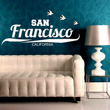 Wall Decal Sticker San Francisco California Signboard Pointer Sign Bedroom I7