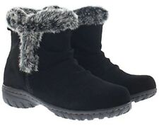New Khombu Women's Brown or Black Suede Lisa All Weather Winter Boots NWOB