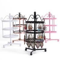 Earrings Jewelry Display Stand Metal Rotating High Quality Ear Studs Holder Rack