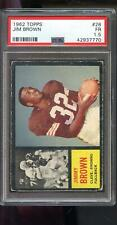 1962 Topps #28 Jim Brown Jimmy Brown Cleveland PSA 1.5 Graded Football Card NFL
