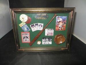Sports Shadow Box Baseball w/miniature memorabilia
