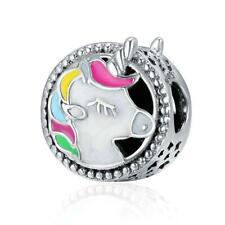 NEW Magical Unicorn Charm Horse Bead Genuine Sterling Silver 925 Jewellery UK