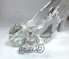 Pick A Pearl Cage Carriage Rhodium Necklace Princess Cinderella Pumpkin Locket