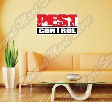 "Pest Control Service Exterminator Cockroach Wall Sticker Interior Decor 25""X14"""