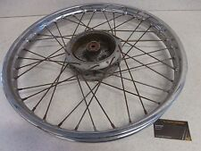 76 Yamaha DT 125 DT125 Genuine Vintage Front Wheel Rim Spoke Hub Set OEM 1.60x21