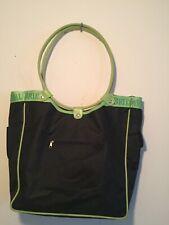 DAVID'S BRIDAL Tote Round Handbag purse travel beach bag Black Green 15W/12H/ 4D