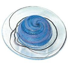 Rings of Saturn Paperweight Glass Eye Studio Celestial Series Art Decor NIB 497F