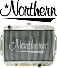 Northern 205162 Aluminum Hot Rod Coupe Downflow Radiator w/ Chevy Inlet Outlet