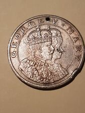 1911 Great Britain King George V & Consort Queen Mary Coronation Medal USS