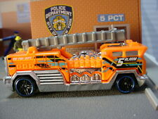 🔥 2020 HW RESCUE 🔥Design 5 ALARM ☆orange Fire truck;ladder☆LOOSE Hot Wheels 🔥