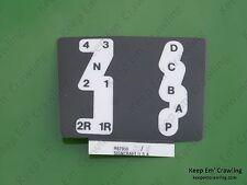 John Deere R62956 Quad Range Gear Shift Pattern Decal 4230 4430 4630 4040 4240