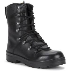 German Army Para Boots Brand New Genuine Military Surplus Combat Leather Black
