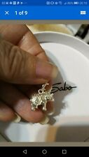 Exquisitely Detailed Thomas Sabo Silver Indian Elephant Charm & Silver Pouch