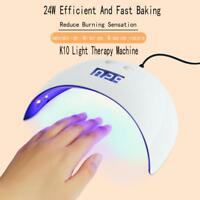 USB 24W LED Drying Curing Machine Tool UV Nail Dryers Light Lamp Polish Gel Wh