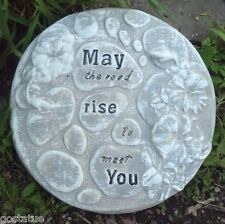 "May the road rise stepping stone plastic mold 10"" x over 1"" thick"