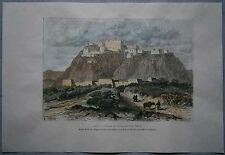 1882 Reclus print POTALA PALACE IN 17TH CENTURY, LHASA, TIBET, CHINA (#9)