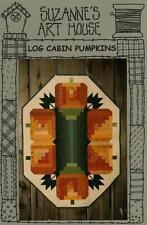Log Cabin Pumpkins Halloween Table Mat Runner Quilt Pattern