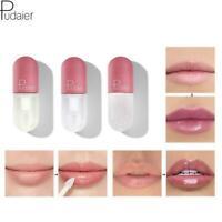 Pudaier lip gloss mini capsule tube moisturize clear gloss change color lip L6Y6