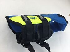 Paws Aboard Doggy Life Jacket Extra Small Safety Blue Yellow XS Dog Pet Vest