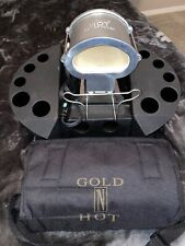 Gold N' Hot 16pc marcel Curling Flat Iron Jumbo Stove Kit Set Stand Pouch