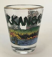 Arkansas Nature Lake Panorama Scene Shot Glass Travel Souvenir Barware