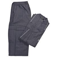 Nero Perla Gray Pinstriped Cotton Pajama Set