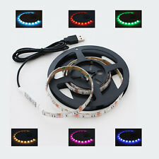 USB LED RGB Leiste 100cm + Mini Controller f. Laptop PC Auto LED Strip e Lampe