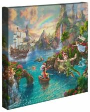 Thomas Kinkade Studios Disney Peter Pan Never Land 8 x 10 Gallery Wrapped Canvas