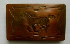 VINTAGE BELT BUCKLE HORSE COPPER COLOR WESTERN CHAMBERS BELT BUCKLE COMPANY USA
