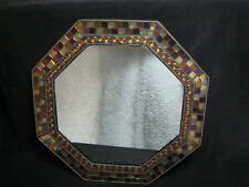 "Partylite Global Fusion 12"" Hexagon Mirror Mosaic Candleholder Retired"