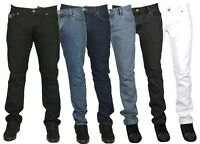 Mens Branded Tight Slim Fit Jeans Pants Jean Blue Black White Size 28-40 £9.99
