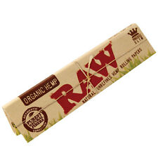 Raw Organic Hemp Natural Unrefined Rolling Papers 1 1/4 2 Packs