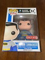 Funko POP! DC Comics Batman Unmasked #51 Vinyl Figure Target Exclusive