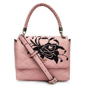 Women's Heather Embroidered Flap Satchel Handbags 4 Colors Bag NWT DE679718