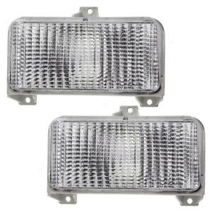 Park Signal Lights Set fits 1983-1991 Chevrolet GMC Van Front Pair Marker Lamps