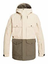 Quiksilver Mens Snowboarding Skiing Horizon Jacket - Beige/Grape Leaf