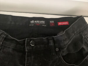 Ecko Unlimited Distressed Black Relaxed Fit Men Jeans Size 36 X 29