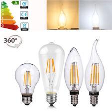 E14 E27 COB LED Lampe Vintage Antique Rétro Noël Edison Ampoules Filament A60