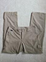Eastern Mountain Sports Women's Roll-up Khaki Hiking Pants Size 12 L Lightweight