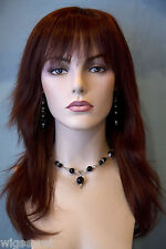 Striking Red Long Straight Wigs