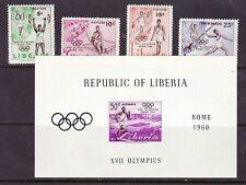 Liberia # 390-92 & C126-27 MNH W/ SS Olympics Sports