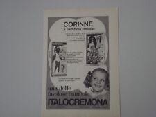advertising Pubblicità 1973 BAMBOLA ITALOCREMONA CORINNE