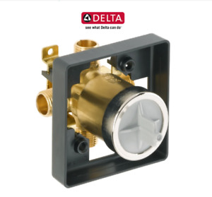 DELTA R10000-UNBX UNIVERSAL MIXING ROUGH IN VALVE WITH 1/2 INCH NPT MALE THREAD