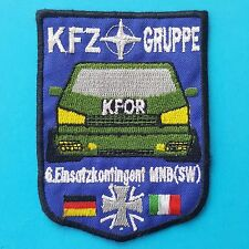 GERMAN ITALIAN Flag KFZ GRUPPE 6.EINSATZKONTINGENT MNB SW Army KFOR Badge Patch