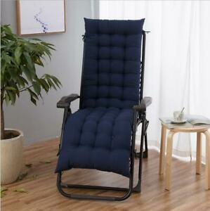 61x19'' Deck Chair Cushion Lounge Tufted Chaise Padding Outdoor Indoor Recliner