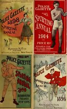 20 OLD ISSUES OF POLICE GAZETTE SPORTING ANNUAL ATHLETIC BOXING MAGAZINE ON DVD