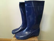 Ladies New Size 7 Blue Wellie Boots