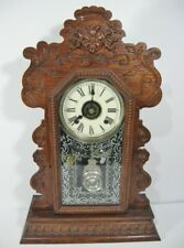 """Antique Ansonia """"Kenmore"""" Kitchen Clock 8-Day, With Alarm, Rebuilt Movement"""