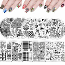 UR SUGAR Nail Art Stamping Plates Flowers Easter April Fool's Day Stamp Template